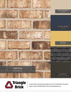 Oakton brick paired with the Sherwin-Williams' Noir Collection from the Colormix 2017 Color Forecast