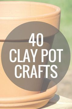 clay pot lighthouse Over 40 clay pot crafts that you can make in 15 minutes or less! Grab your terra cotta pots and get started on these DIY projects! Clay Pot Projects, Clay Pot Crafts, Diy Clay, Dyi Crafts, Outdoor Crafts, Shell Crafts, Wreath Crafts, Garden Crafts, Crafty Projects