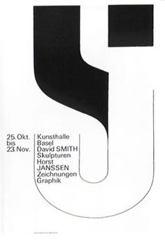 Armin Hofmann,   Kunsthalle Basel - David Smith/ Horst Janssen, 1966
