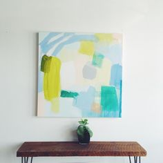 Just added three new medium to large paintings in the shop. I'm channeling even more bright and summery palettes than usual ☀️