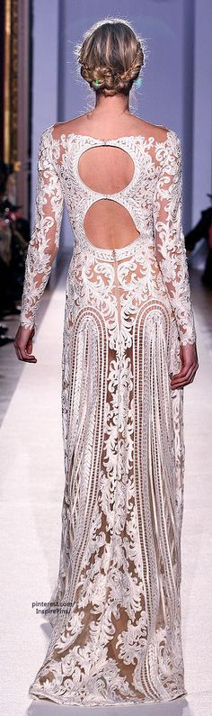 the back of the dress I want to wear someday. Zuhair Murad - Couture - S/S 2013