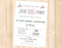Printable Wedding invitation  Country Wedding by GreenDoorHandmade, $13.50