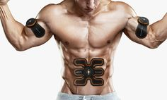 EMS Muscle Training Gear Abs Training Fit Body Home Exercise Shape Fitness US