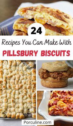 Pillsbury Crescent Roll Recipes, Pillsbury Biscuit Recipes, Biscuit Dough Recipes, Best Biscuit Recipe, Bisquick Recipes, Recipes With Biscuits, Pillsbury Dough, Brunch Recipes, Appetizer Recipes