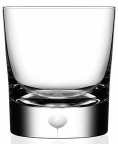 Orrefors Intermezzo Satin Double Old Fashioned Glass - Double Old Fashioned - Glasses - Macy's