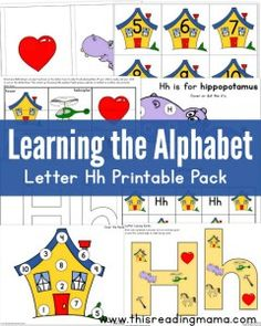 Learning the Alphabet - FREE Letter H Printable Pack - This Reading Mama