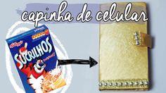 DIY :: Capinha de Celular com caixa de cereal   Projeto DIY