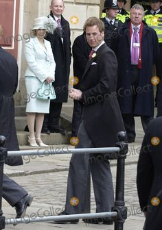WINDSOR, APRIL 9, 2005 Prince Harry arriving for Princes Charles' wedding to Camilla Parker Bowles at Windsor Town Hall.