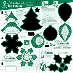 Amazon.com - Hot Off The Press - Christmas Iris Folding Template - Prints
