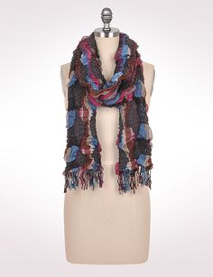 Accessories | Scarves & Wraps | Ruched Mulitcolor Scarf | dressbarn