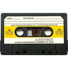 A Gallery of Vintage Blank Audio Cassette Tapes ❤ liked on Polyvore featuring fillers, music, yellow fillers, accessories and extra