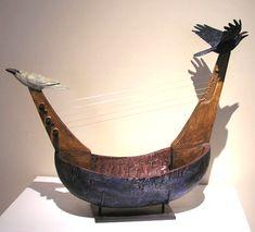 Raven Spirit Lyre Boat - Hib Sabin