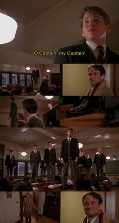 Dead Poet's Society. Weeping. Seriously one of the best and most powerful movies I have ever seen.