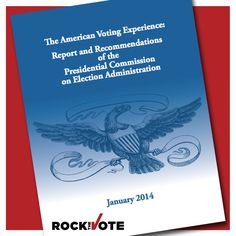 The #PCEA report released this morning calls for states to adopt online registration tools like #RocktheVote's! Visit rtvote.com/PCEA for more!