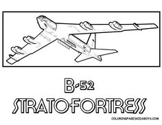 this is a b 52 stratofortress aircraft picture coloring page tell others you found yescoloring