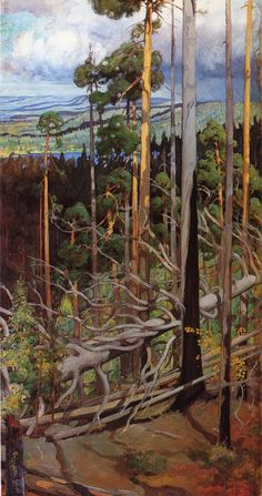 Pekka Halonen, Erämaa (The Wilderness), 1900, from The Life and Art of Pekka Halonen - http://www.alternativefinland.com/art-pekka-halonen/