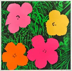 the way color brightens my mood: Andy Warhol | Flowers | 1964