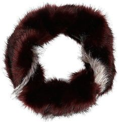 Pin for Later: Winter Accessories So Cute, You Won't Mind Bundling Up a Bit River Island Faux-Fur Snood River Island Dark Red Faux-Fur Snood ($50)