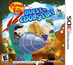 Phineas and Ferb: Quest for Cool Stuff - Nintendo 3DS,   Cool treasure awaits beyond the Tri-state. Dig, drill, and blast through an out-of-this-world adventure with Phineas and Ferb as you collect fun stuff for the Museum of Cool! Explore ancient temples, underwater caverns and the moon. Save the Tri-state area as crime-fighting Agent P. Build, customize and upgrade the do-it-all transformatron. /ref=cm_sw_r_pi_dp_9EJIsb1QBHKPE