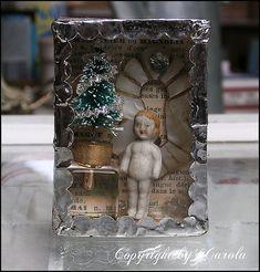 "Soldered trinket box ""Oh Christmas tree"""