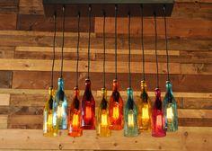 10Light Modern Recycled Bottle Chandelier The от MoonshineLamp