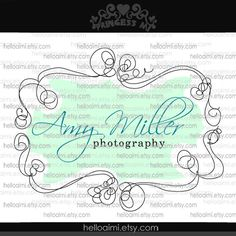 logo - I enjoy the black with a pop of color. I also really like the swirly border