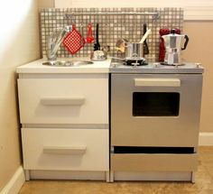 Fab play kitchen from Ikea Malm bedside tables