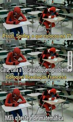 Read 171 from the story Marvel Memes Brasil by MarvelBR (Marvel Comics BRasil) with 715 reads. Marvel Jokes, Avengers Memes, Marvel Vs, Deadpool And Spiderman, Nerd, Otaku Meme, Spideypool, Geek Humor, Best Memes
