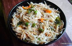 Semiya Upma   Vermicelli Upma  You can call it the Indian version of pasta.  Upma is a very popular breakfast dish in South India.  It is simple, easy and healthy one-dish meal which doesn't require any accompaniment.  #semiya #vermicelli #pasta #indianfood #breakfastrecipes #kidsrecipes #quickrecipes