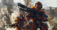 Battle Concept, J.C Park on ArtStation at https://www.artstation.com/artwork/battle-concept-4d08db4f-c133-4587-a74d-c06de717bb4c