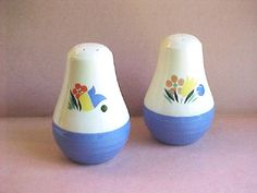 Salt & Pepper Shakers Universal Pottery by IrrenaysTreasures
