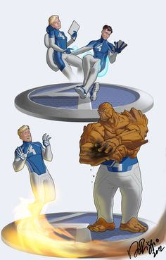 Project Rooftop: Fantastic Four Fashion Forward! by Ventimiglia on deviantART