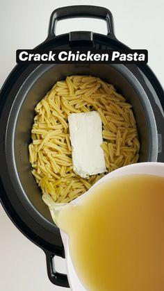 Crockpot Recipes, Chicken Recipes, Cooking Recipes, One Pot Recipes, Pasta Recipies, Planning Menu, Chicken Pasta, Crack Chicken, Instant Pot Dinner Recipes