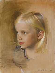 Lilah - oil on panel - Masters of Portrait Art - Fine Artist & Portrait Artist Ronald N. Sherr