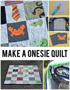 Baby Onesie Quilt from craft buds