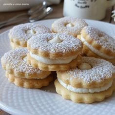 Biscotti Biscuits, Shortbread Biscuits, Biscotti Cookies, Sweets Cake, Cookie Desserts, Cookie Recipes, Mini Cakes, Cupcake Cakes, Kolaci I Torte