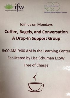 #Infertility Support - Informal Intro. to Lisa Schuman, LCSW - Drop in Support Group Mondays in Norwalk, CT.