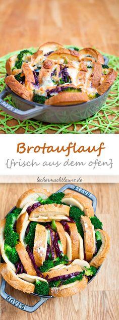Ein leckerer Brotauflauf, der nicht nur schmeckt, sondern auch hübsch anzuschauen ist. Und dazu ist er auch noch einfach zuzubereiten. Was will man mehr? :)