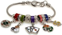 Royal Diamond Casino Dice Cards Fashion Bracelet with Murano Beads Royal Diamond. $22.17. Stunning Colorful Pandora Style Designer Fashion Bracelet. Unthreaded European Style Charm Bracelet Design. European Murano Glass and Crystal Style Charms. This bracelet is a great accessory to your outfit. Pandora, Biagi, Chamilia, Troll, Murano, and Enamel Beads. Save 56%!