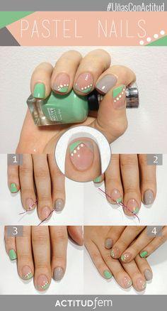 Manicure con esmalte gris [TUTORIAL] | ActitudFEM