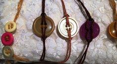 Vintage Button Tie On Bracelets on Etsy, $2.00