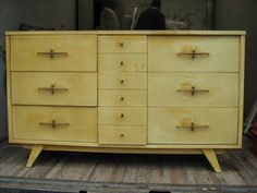 Best Vintage Bassett 50 S Blonde 4 Drawer Chest Dresser Chicago 640 x 480