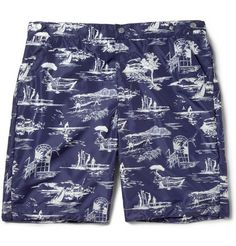 Robinson les Bains Oxford Printed Swim Shorts | MR PORTER