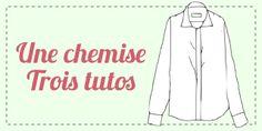 "Crafty Bitches - Blog DIY, Couture, Déco, Vintage: Tuto couture : Transformer une chemise moche en chemisier ""pin-up"""