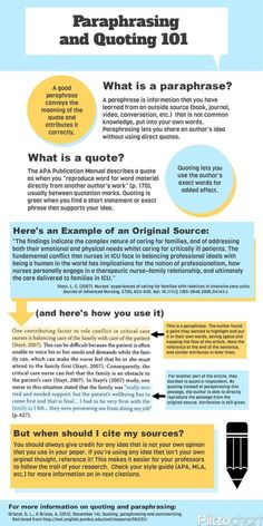 How do you incorporate your sources into your paper? Here's a quick guide on how to paraphrase effectively (while still giving appropriate credit!).
