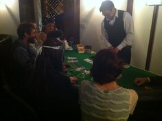 Gambling tables at Speakeasy