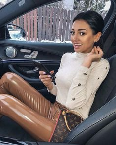 Pvc Leggings, Shiny Leggings, Leggings Are Not Pants, Sexy Outfits, Cool Outfits, Leather Pants Outfit, Vinyl Clothing, Fetish Fashion, Business Women