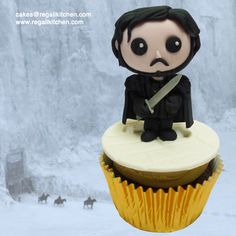 Funko Pop Jon Snow Cupcake | Game of Thrones Cupcake | Lord Commander | Night's Watch | The Wall | by The Regali Kitchen