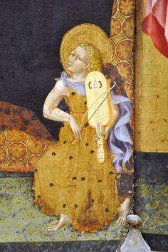 Madonna and Child with Saints Giovanni di Paolo (Giovanni di Paolo di Grazia) (Italian, Sienese, 1398–1482), detail 3. MET NYC