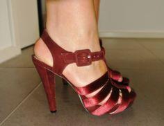 Velvet Merlot Heels